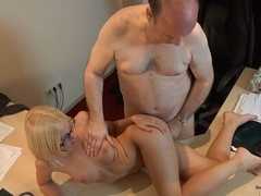This juvenile golden-haired lady doctor knows well how to treat an old guy during the time that medical examination. That Sweetheart applies him a modern therapy which consist in lengthy licking balls, intense 10-Pounder engulfing and fuck