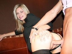 Sexy anal fuck in a public toilet